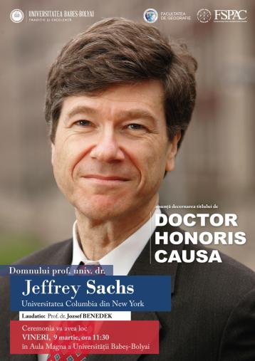 Prof. univ. dr. Jeffrey Sachs – DHC al UBB